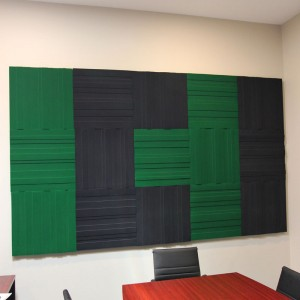 lundor acoustic panel: 7 kelly green 8 charcoal grey